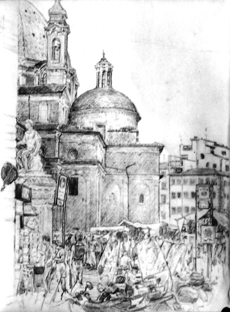 Sagrestia Nuova & environs drawing 1997